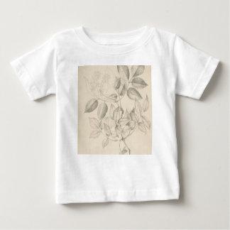 T-shirt Pour Bébé Feuille et fleurs - 19ème siècle britannique