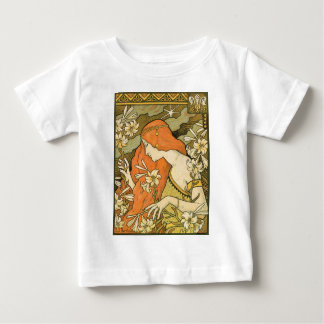 T-shirt Pour Bébé Fille de pin-up de Nouveau de Français dans le