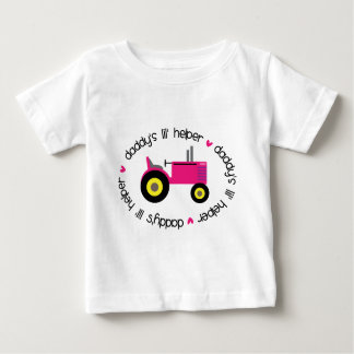 T-shirt Pour Bébé Fille de tracteur d'aide de Lil du papa