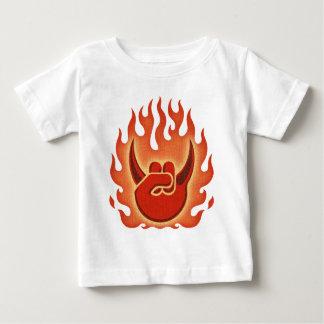 T-shirt Pour Bébé Flammes de roche de diable