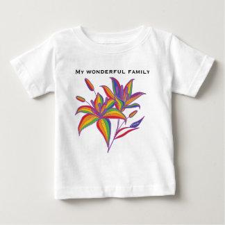 T-shirt Pour Bébé Fleur d'astronome de drapeau du gay pride LGBT