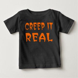 T-shirt Pour Bébé Fluage il vraie chemise de Halloween