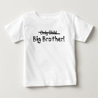 T-shirt Pour Bébé Frère (enfant unique biffé) mignon et Funn