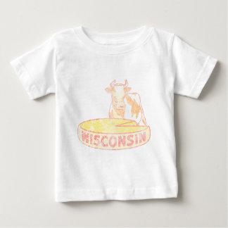 T-shirt Pour Bébé Fromage et vache du Wisconsin
