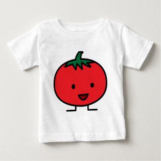 T-shirt Pour Bébé Fruit végétal rouge de tomate heureuse