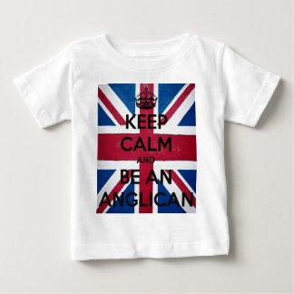 T-shirt Pour Bébé Gardez le calme et soyez un anglican