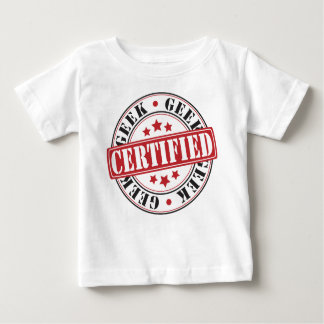 T-shirt Pour Bébé Geek certifié