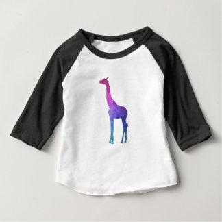 T-shirt Pour Bébé Girafe géométrique avec l'idée vibrante de cadeau