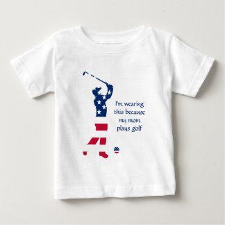T-shirt Pour Bébé Golfeur d'Américain de golf des Etats-Unis