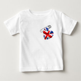 T-shirt Pour Bébé Goupille de sécurité BRITANNIQUE de drapeau