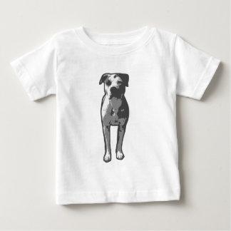 T-shirt Pour Bébé Graphique d'à l'os de pitbull