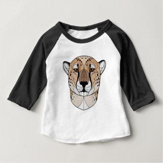 T-shirt Pour Bébé Guépard géométrique