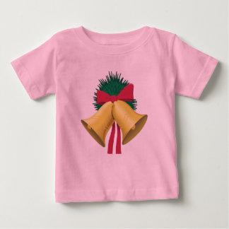 T-shirt Pour Bébé Guirlande, Bells d'or et arc rouge