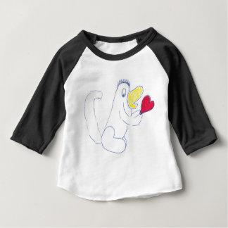 T-shirt Pour Bébé Habillement américain d'insecte d'amour 3/4 raglan