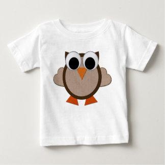 T-shirt Pour Bébé Hibou lunatique de bande dessinée de Brown