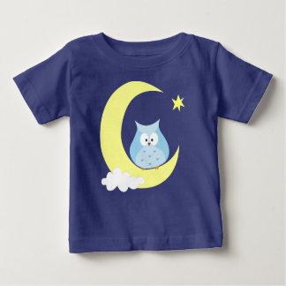 T-shirt Pour Bébé Hibou se reposant sur la lune
