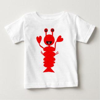 T-shirt Pour Bébé Homard heureux