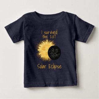 T-shirt Pour Bébé Homme de l'éclipse solaire 2017 dans la lune et