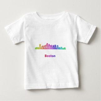 T-shirt Pour Bébé Horizon de Boston d'arc-en-ciel