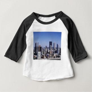 T-shirt Pour Bébé Horizon de ville de Pittsburgh