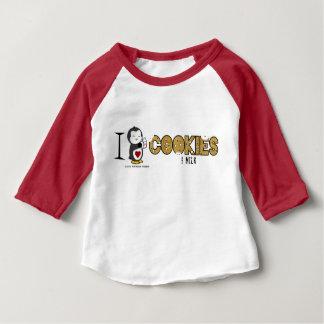 T-shirt Pour Bébé I biscuits et lait de coeur !