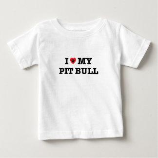 T-shirt Pour Bébé I coeur mon pitbull