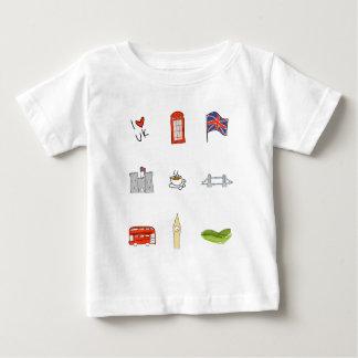 T-shirt Pour Bébé I coeur Royaume-Uni, amour britannique, points de