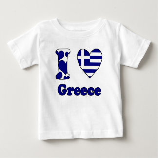 T-shirt Pour Bébé I love Greece
