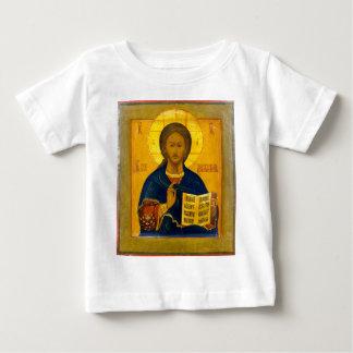 T-shirt Pour Bébé Icône de Russe de Jésus-Christ