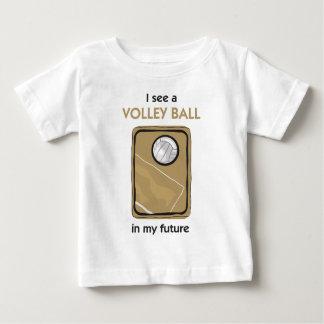 T-shirt Pour Bébé Il y a un volleyball dans mon avenir