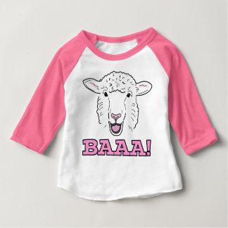 T-shirt Pour Bébé Illustration de sourire mignonne Baaa de visage de