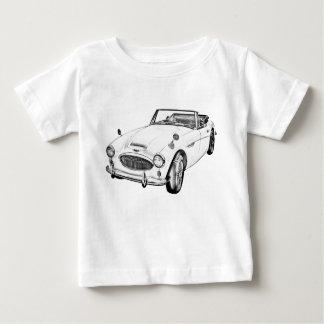 T-shirt Pour Bébé Illustration de voiture de sport d'Austin Healey