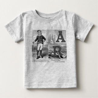 T-shirt Pour Bébé Initiales A de base-ball et signification de