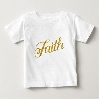 T-shirt Pour Bébé Inspiré métallique de scintillement de Faux d'or