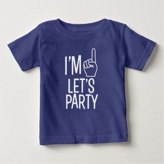 T-shirt Pour Bébé J'ai un ans nous ai laissés Party la chemise drôle