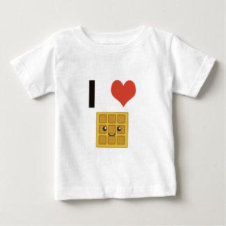 T-shirt Pour Bébé J'aime des gaufres