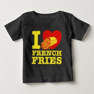 T-shirt Pour Bébé J'aime des pommes frites