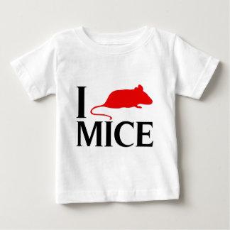 T-shirt Pour Bébé J'aime des souris