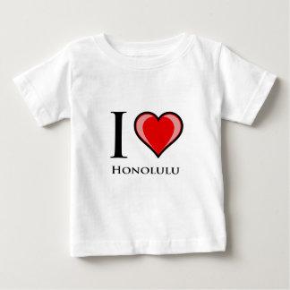 T-shirt Pour Bébé J'aime Honolulu