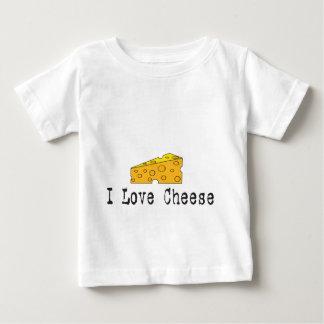 T-shirt Pour Bébé J'aime la chemise de blanc de fromage