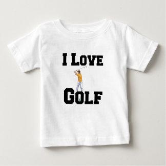 T-shirt Pour Bébé J'aime le golf 01