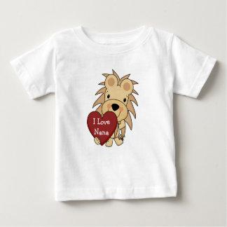 T-shirt Pour Bébé J'aime le lion lunatique Valentine de Nana