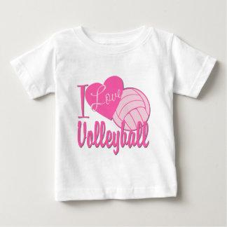 T-shirt Pour Bébé J'aime le rose de volleyball