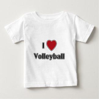 T-shirt Pour Bébé J'aime le volleyball