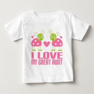T-shirt Pour Bébé J'aime ma grande tante Ladybug