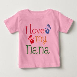 T-shirt Pour Bébé J'aime ma Nana Handprints