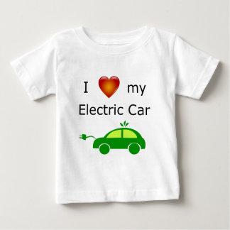 T-shirt Pour Bébé J'aime ma voiture électrique