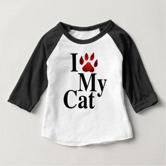 T-shirt Pour Bébé J'aime mon chat