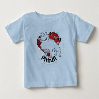 T-shirt Pour Bébé J'aime mon chien drôle et mignon adorable heureux