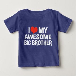 T-shirt Pour Bébé J'aime mon frère impressionnant
